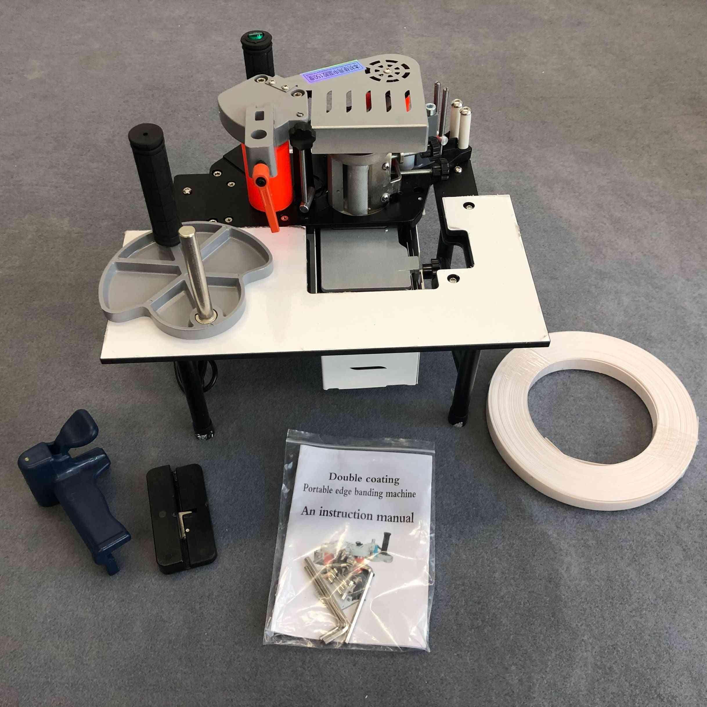 Double Side Gluing Portable Edge Bander Woodworking Edge Banding Machine