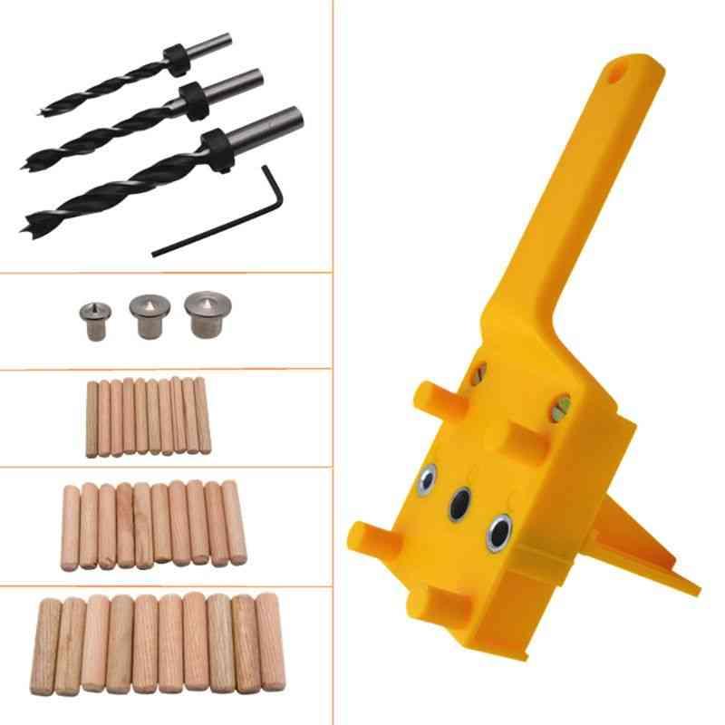 Handheld Woodworking Dowel Jig Guide,wood Drilling Straight Hole/metal Sleeve