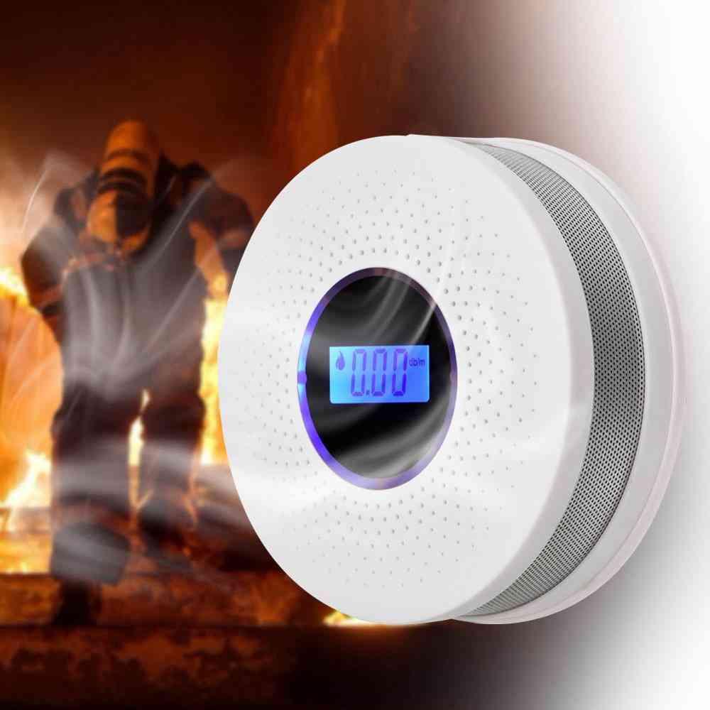 Carbon Monoxide Smoke Fire Detector Photoelectric Sensor Compound Alarm