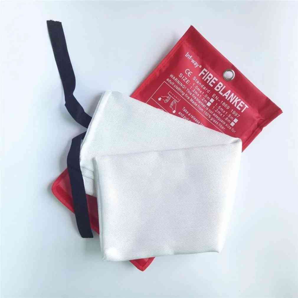 Fire Blanket Fiberglass, Flame Retardant, Emergency Survival, Shelter Safety Cover