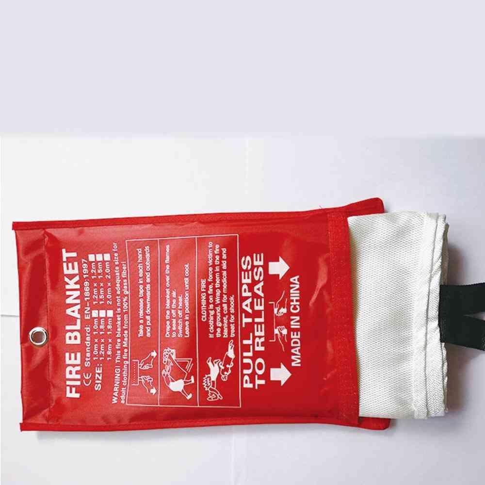 Fiberglass Retardancy, Durable Soft Case Fire Blanket-retardant