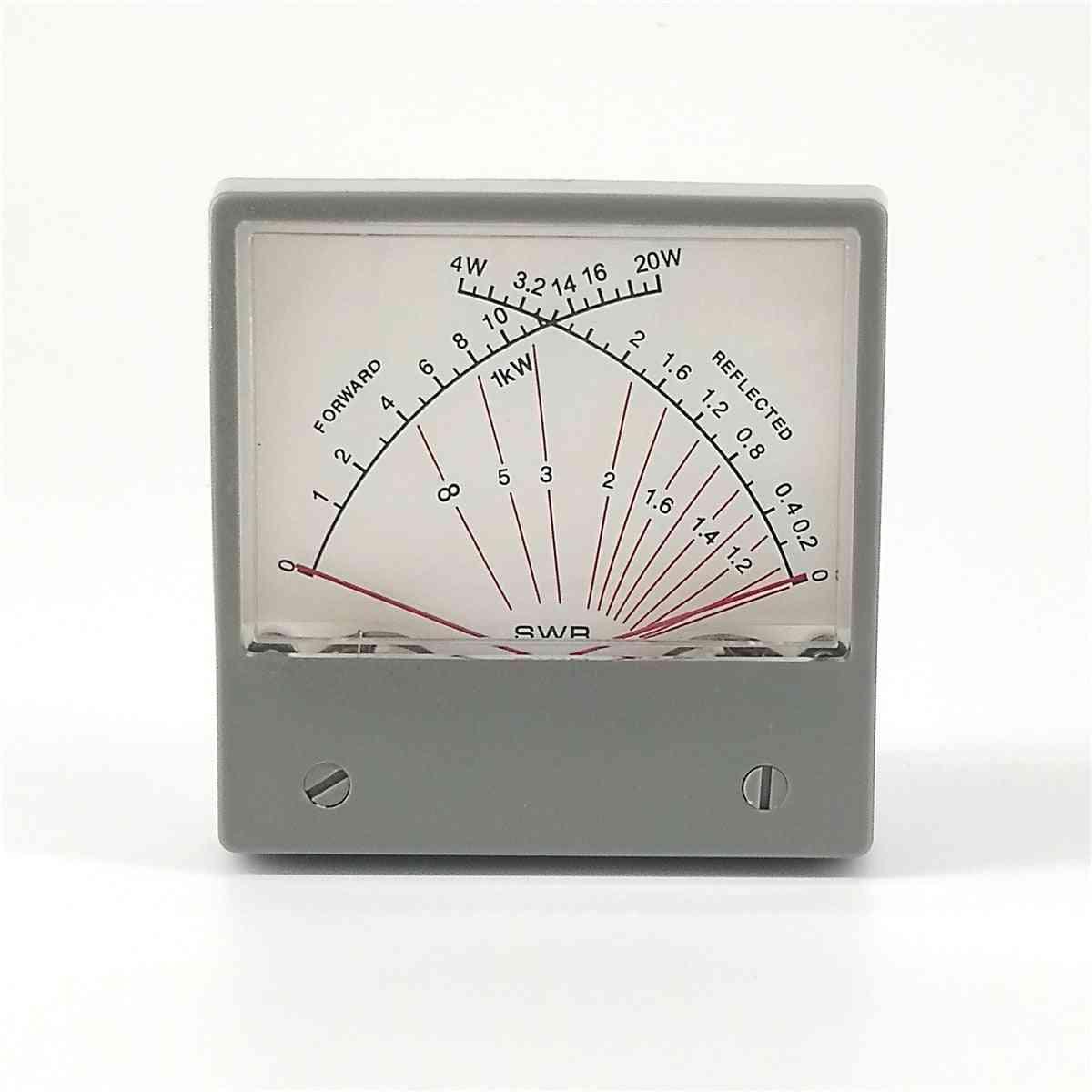 Stationary Wave Ratio Forwad Swr Meter Dual Meter Forward 20w Reflected 4w Radio Hf Sz-70-1