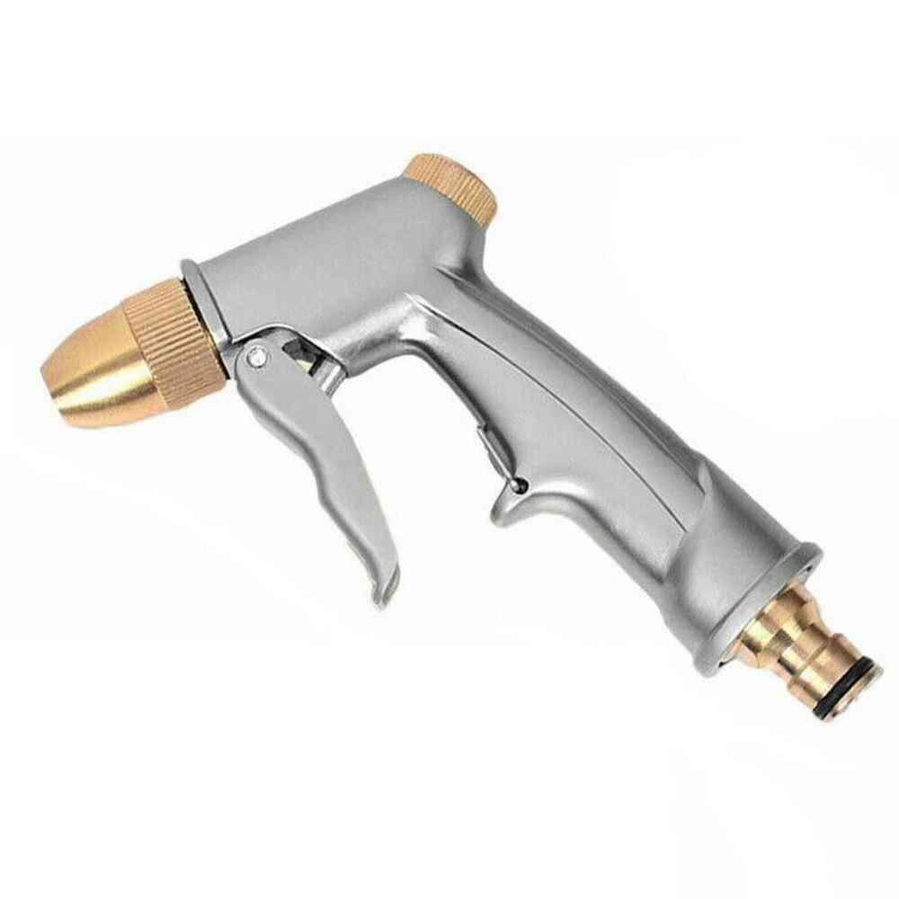 Metal High Pressure Water Spray Gun, Brass Nozzle Garden Hose Pipe