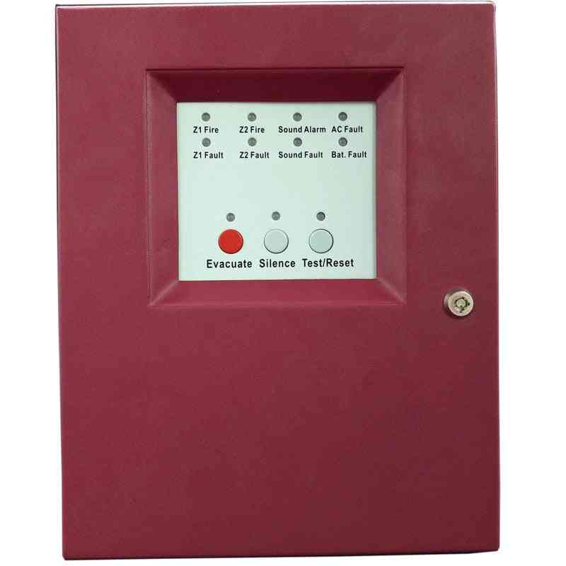 2 Zones Fire Alarm Control Panel, Mini Fire Alarm Control System