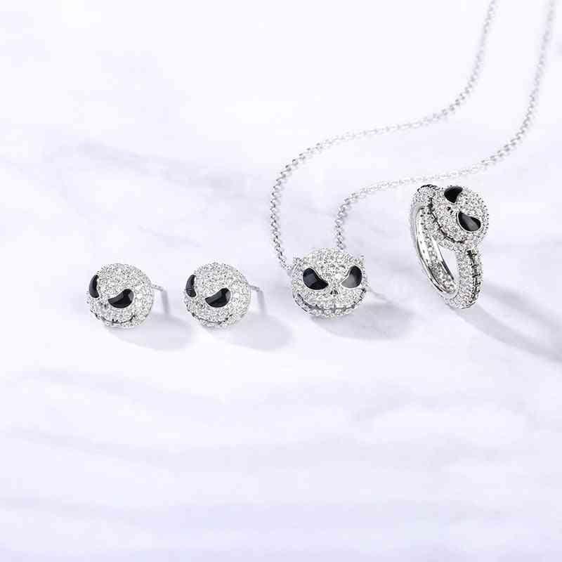 Silver Plated Nightmare Jack Skull Ring