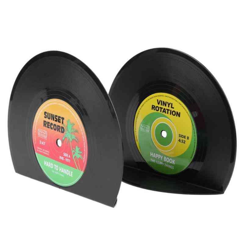 Creative Vinyl Record Shaped Book Shelves Holders