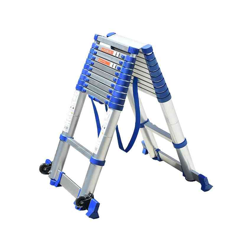 Thickening Aluminium Alloy Herringbone Ladder, Portable Telescopic Ladders