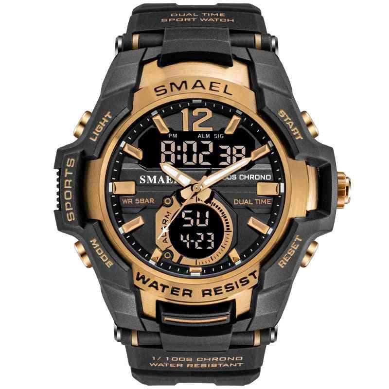Men Sport Watch, Waterproof Digital Military Army Wristwatch