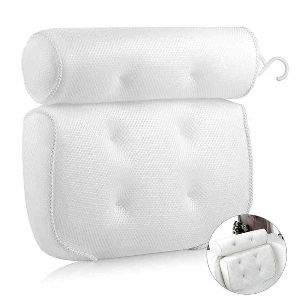 3d Soft Spa Bath Mesh Pillow Bathroom With Suction Cup