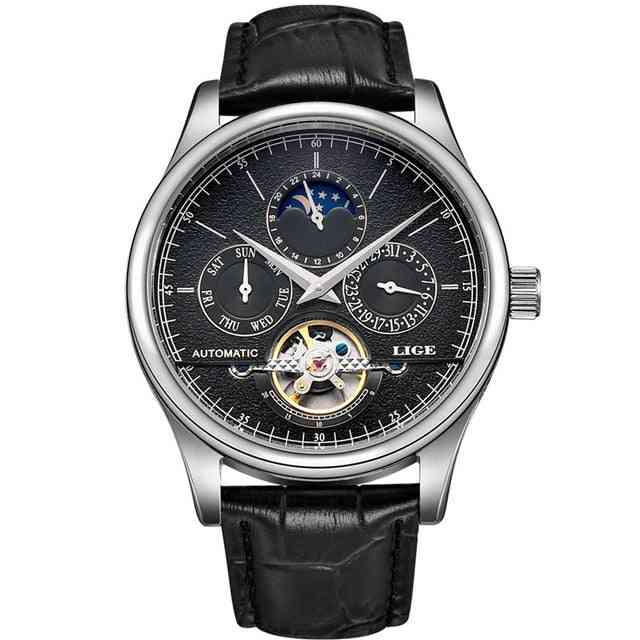 Men Automatic Watch, Leather Sport Watches