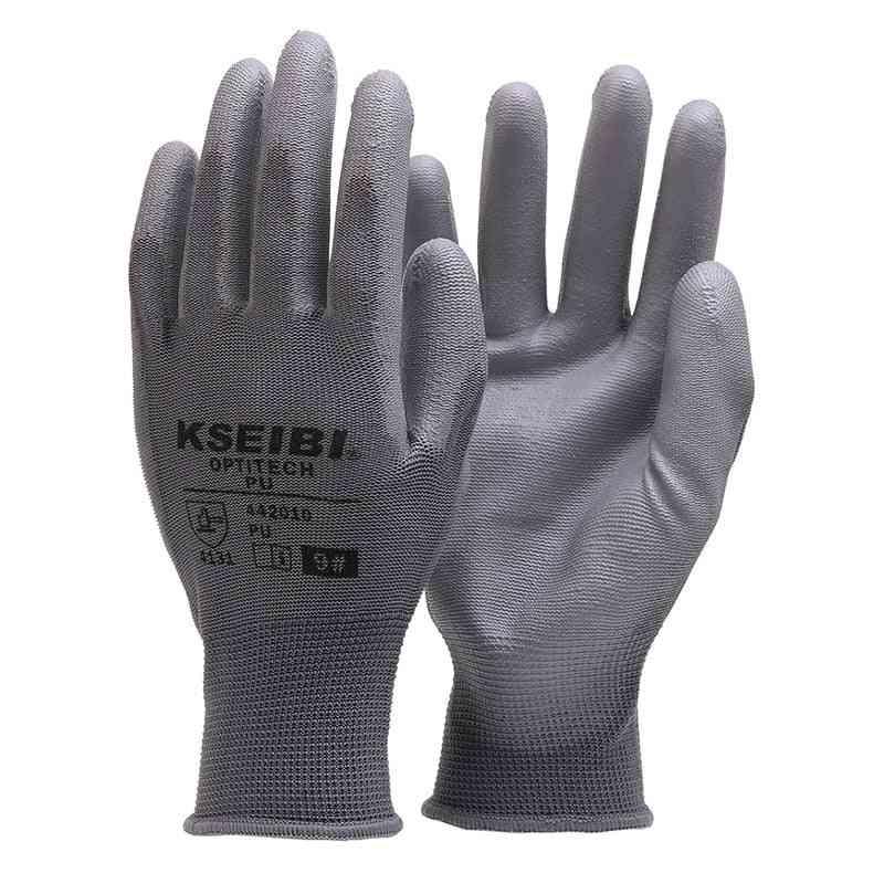 Gardening Working Gloves, Polyester Fiber Pu Anti-slip Garden Safety Glove