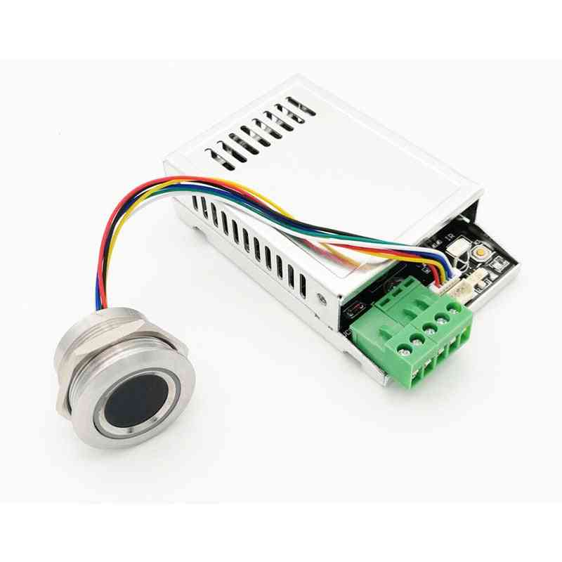 K216+r503 Fingerprint Control Board Relay Time 0.5s-20s With Remote Controller And Ring Indicator
