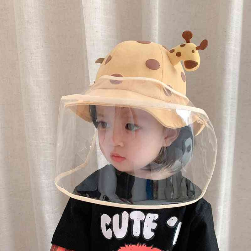 Kids Anti-spitting Protective Cap, Splash-proof Removable Face Cover Outdoor Hats