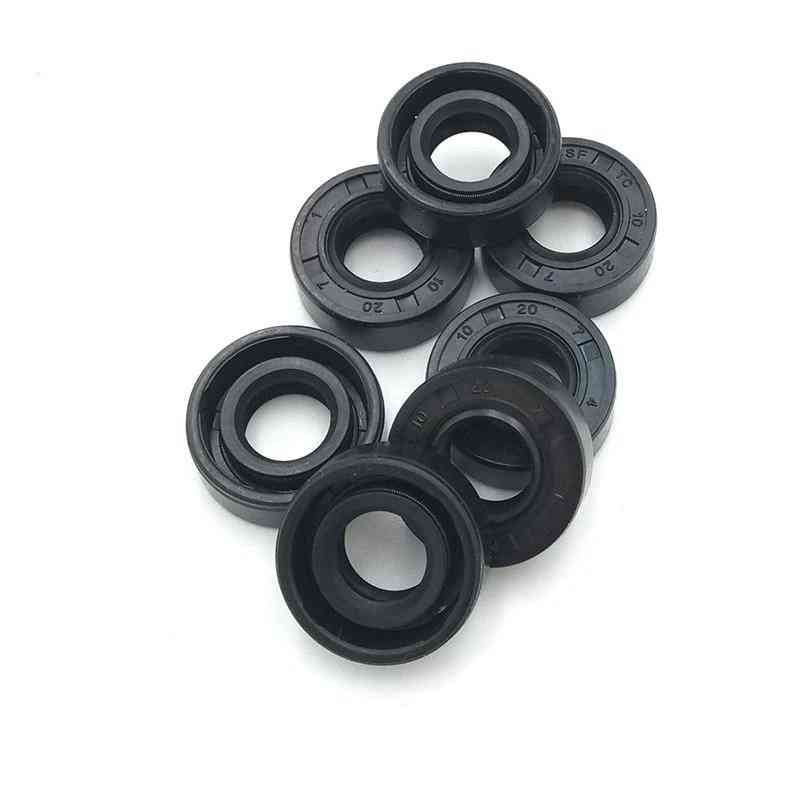 Nbr Shaft Oil Seal Nitrile Covered Double Lip With Garter