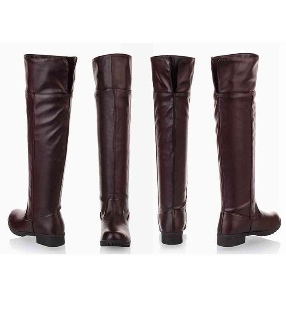 Knee High Attack On Titan Shoes, Cosplay Boots