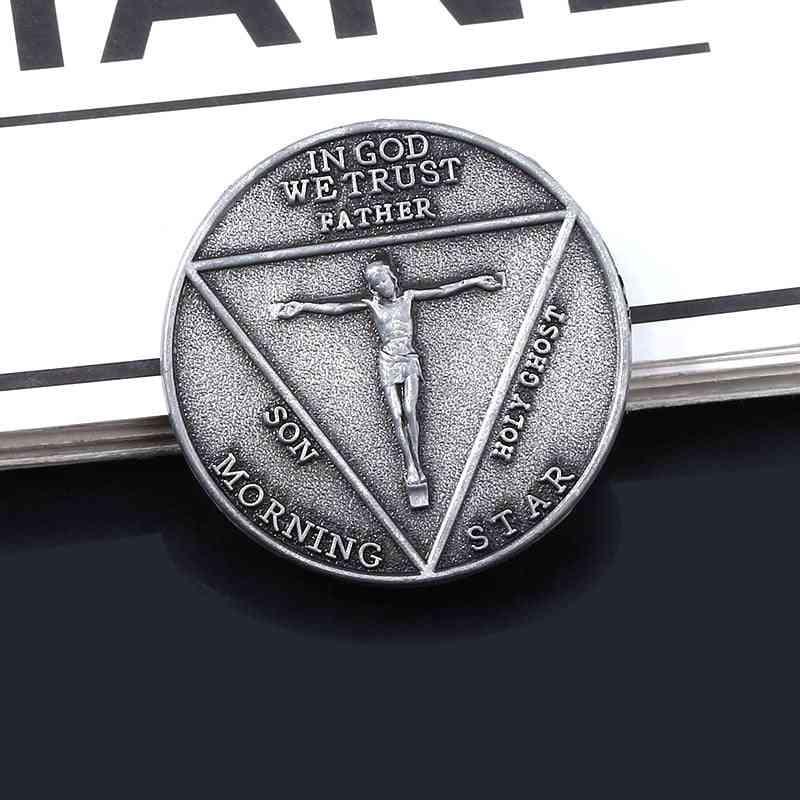 Tv Show Lucifer Morningstar Satanic Pentecost Cosplay Coin