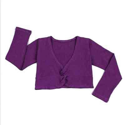 Girl Ballet Gymnastic Leotard Jacket, Long Sleeved Dance Sweater Top Coat