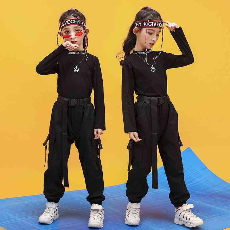 Kid Hip-hop Clothing, Sweatshirt Running Casual Pants For Dance Clothes