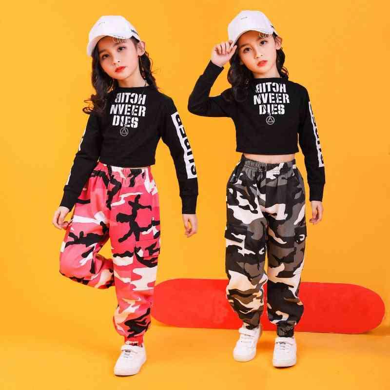 Kid-hip Clothing Sweatshirt, Sleeve Streetwear/pants For Dance Clothes