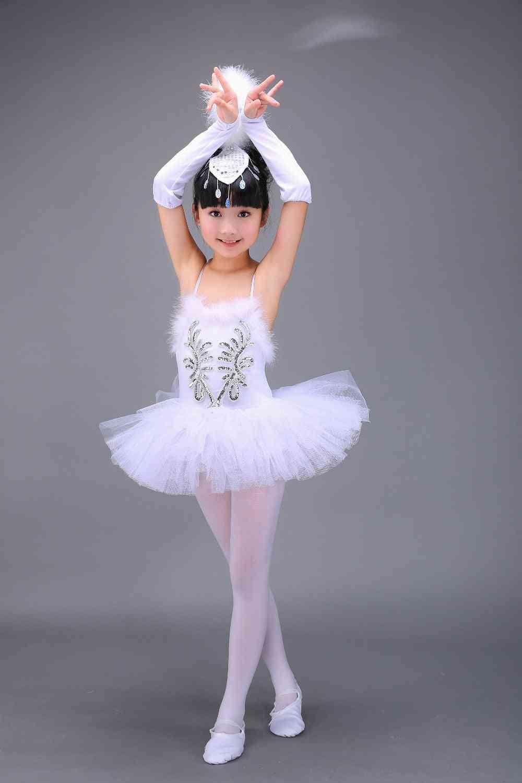 Professional Swan Lake Ballet Tutu Costume,/children/kids Ballet Dancewear