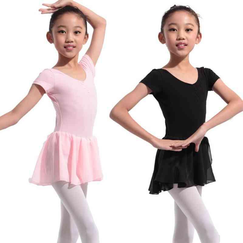 Gymnastics Ballet Dress, Short Sleeve Dance Wear Costumes/clothes