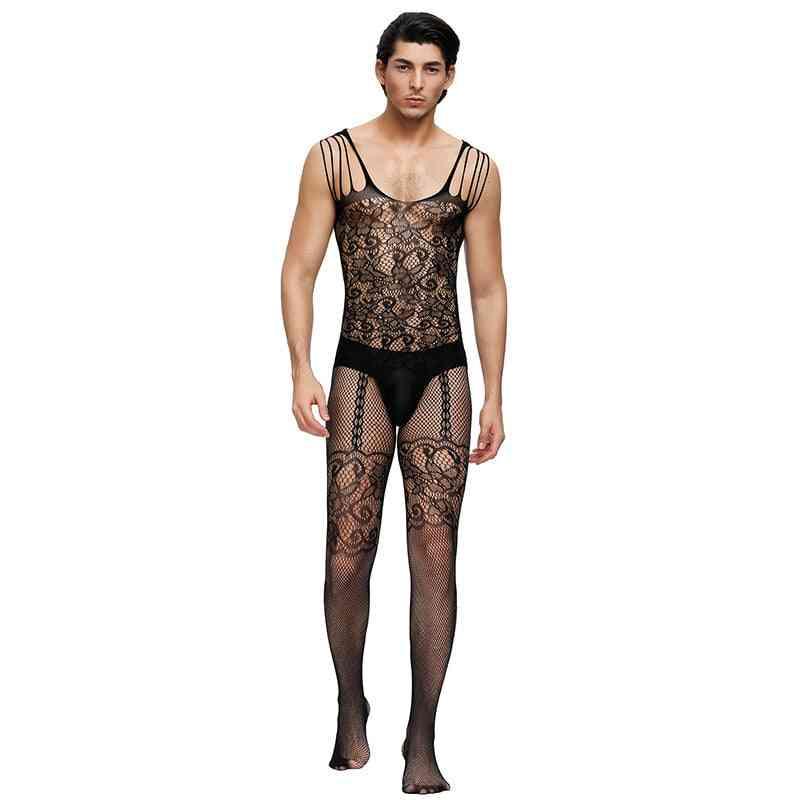 Man Netting Body Cosplay Fun Underwear Costumes Hose Bodysuits