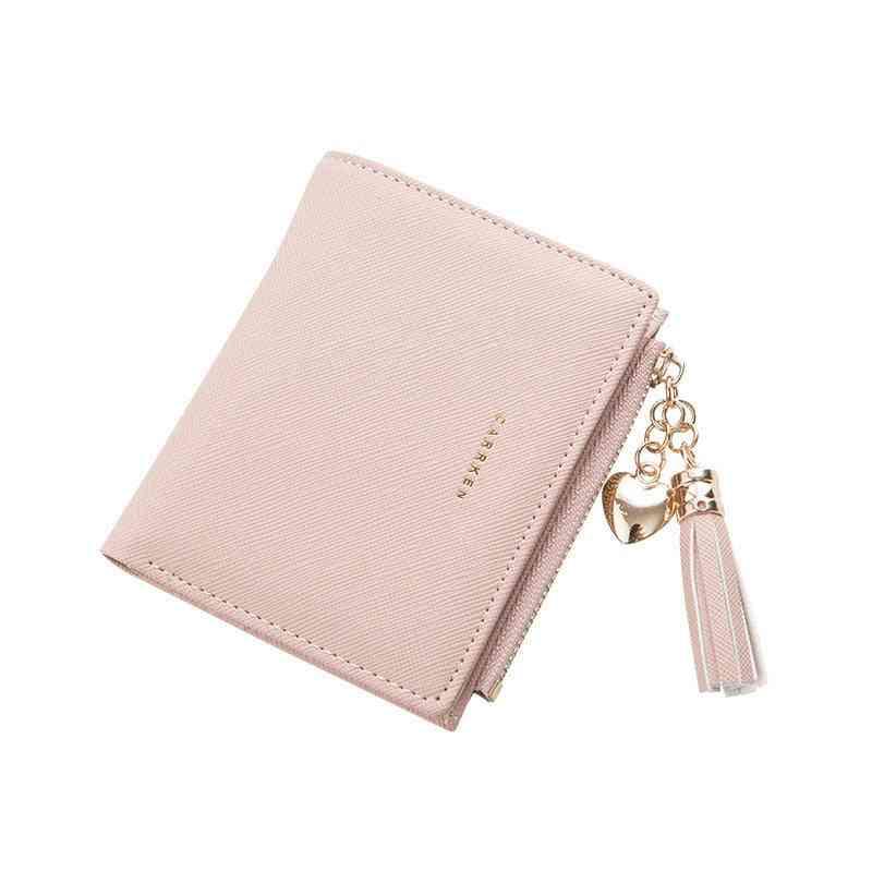 Women Wallet Small Cute Short Leather Zipper Purses Portefeuille Clutch
