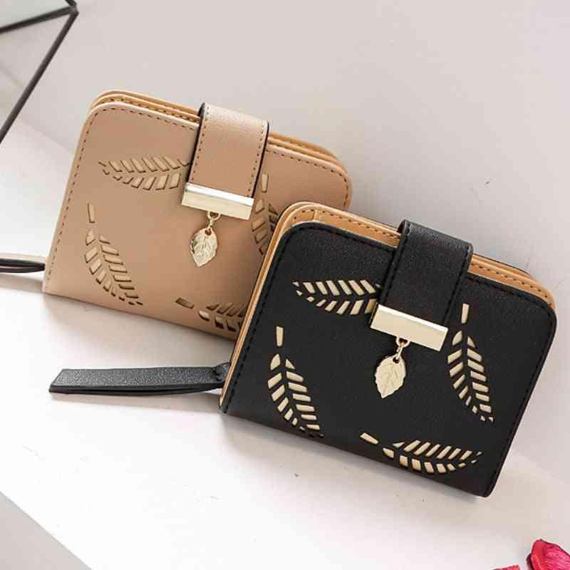 Women Short Wallets / Handbag For Coin Leather Purses Card Holder