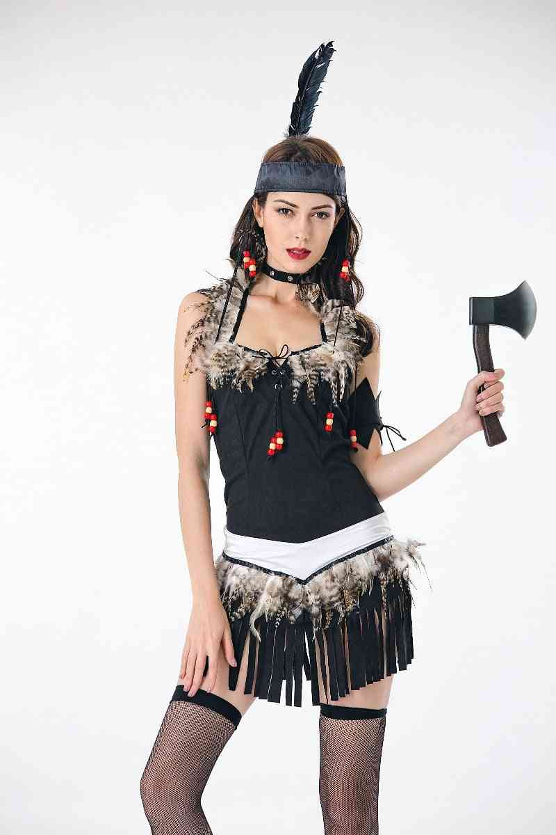 Fringed Native Princess Of Savage Forests Hunter Fancy Dress