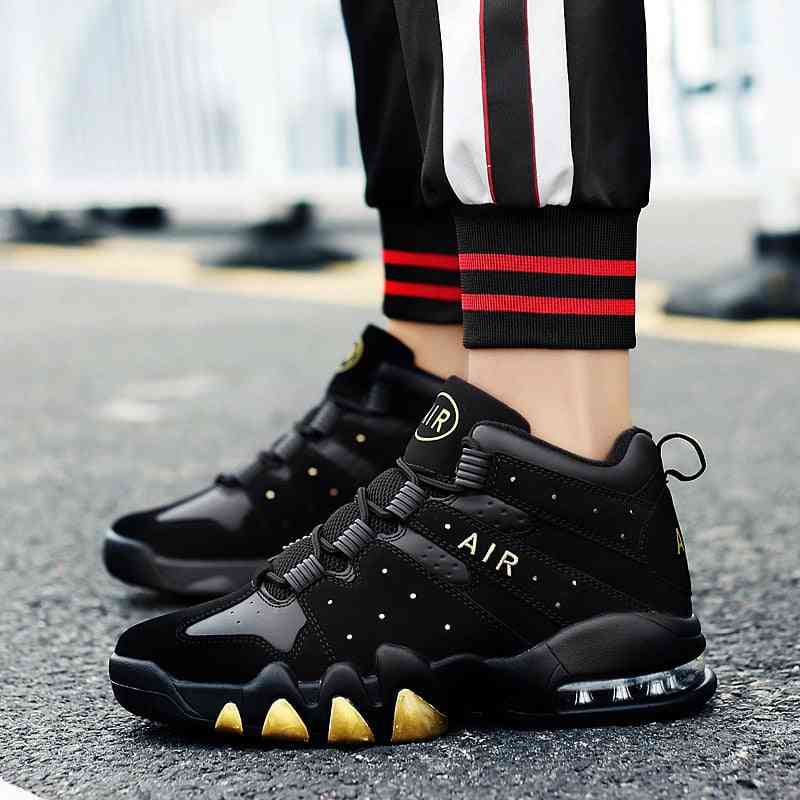 Basketball Sports Cushioning Athletic Shoes, Retro Sneakers