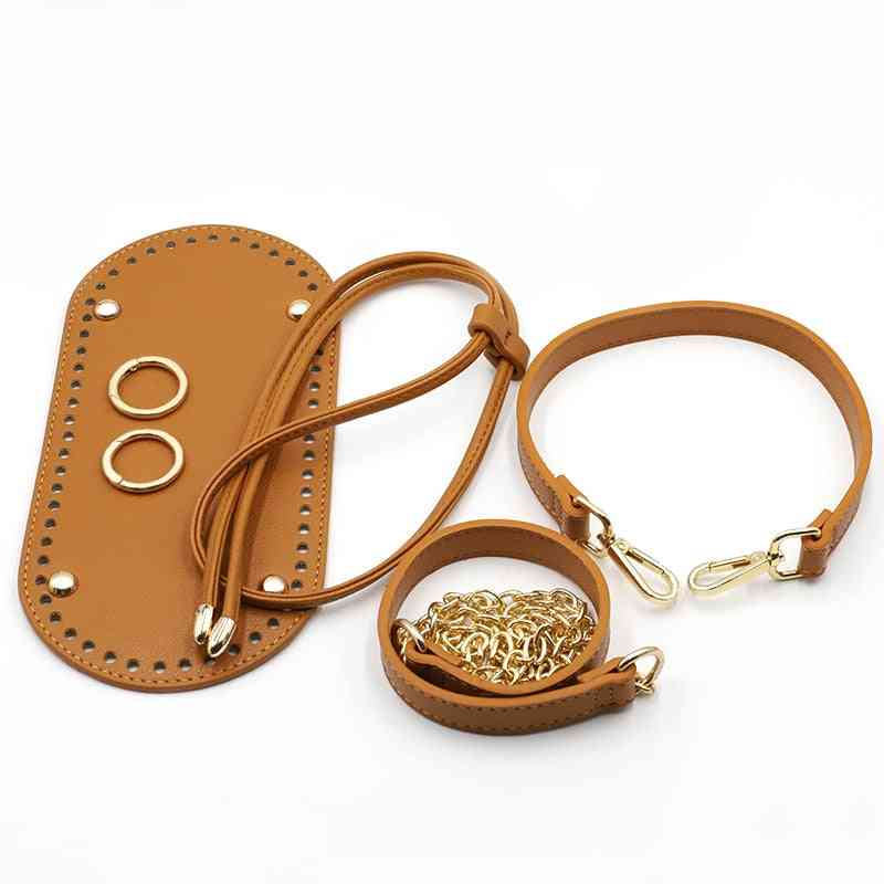 Handmade Backpack Accessories, Bags Strap Bottom Bunches Leather Handles