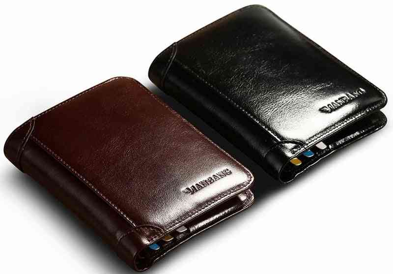 Man Bang Classic Style Wallet, Leather Short Purse Card Holder