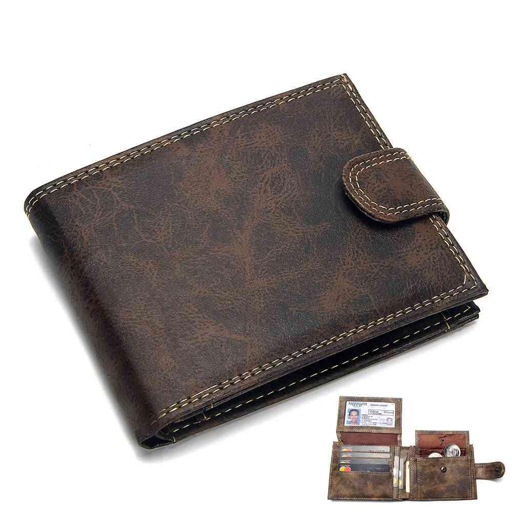 Luxury Designer Men's  Leather Pu Short Wallets, Purse, Coin Pouch