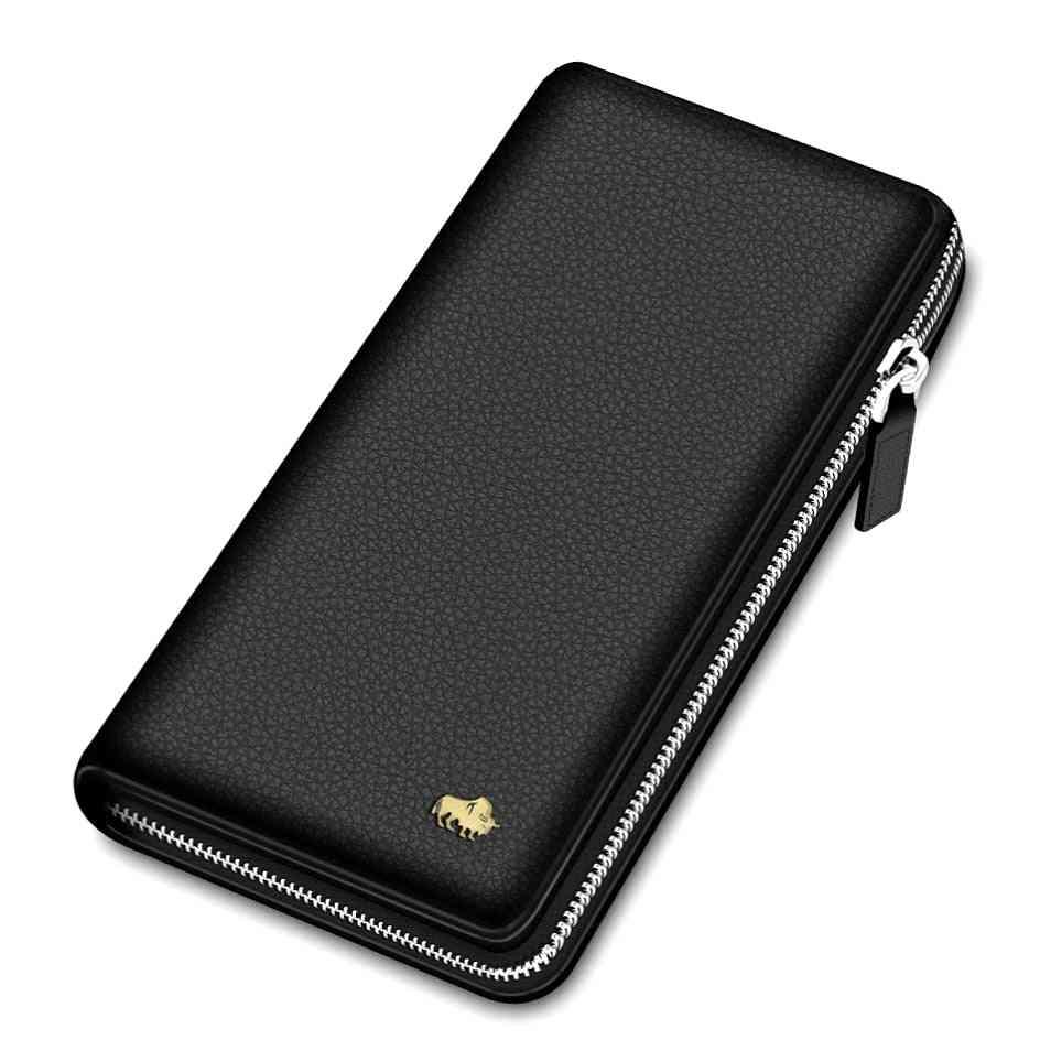 Genuine Leather Wallet Rfid Blocking Clutch Bag, Wallet Card Holder Coin Purse
