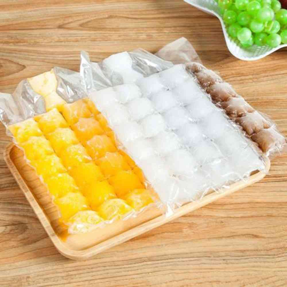 Disposable Ice-making Bags, Cube Tray, Mold - Summer Diy Drinking Cooler