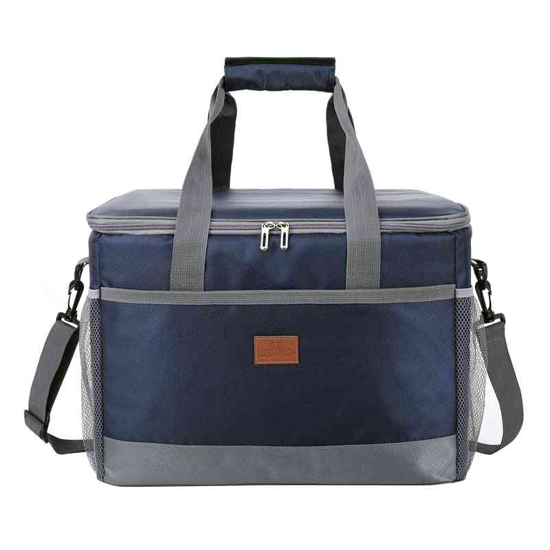 Leakproof Red Blue Insulated Thermal Cooler Lunch Bag