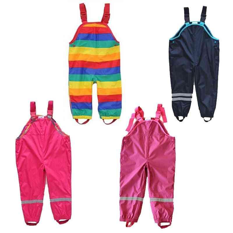 Boys And Suspenders Beach Pants, Waterproof Rain Pant
