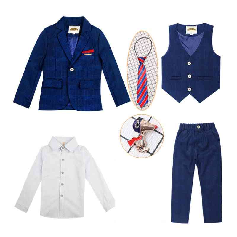 Children's Formal 4pcs Suit Sets Flower Boy Wedding Party Prom Birthday Outfits
