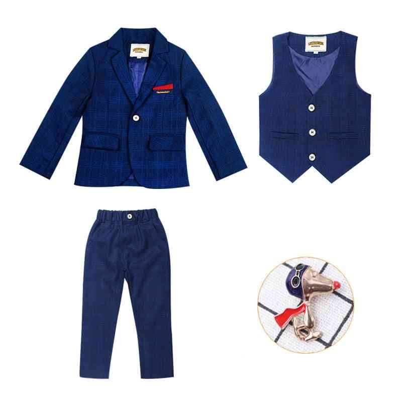 Children's Formal 4pcs Suit Sets - Wedding Party, Prom, Birthday Dress Costume For