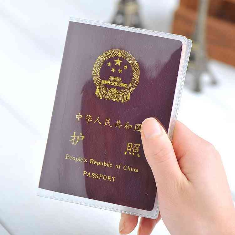 Travel Waterproof Dirt Passport Holder Cover, Transparent Wallet