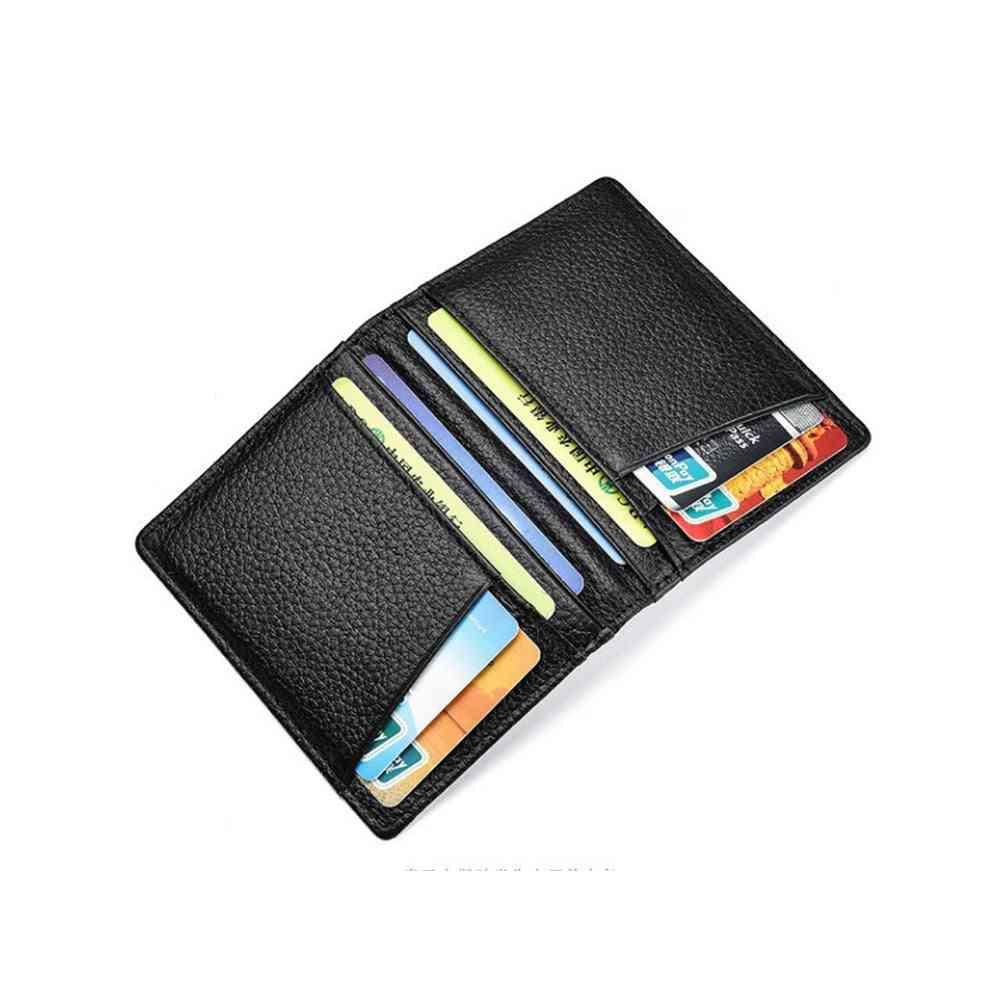 Super Slim Soft Wallet, Sheepskin Genuine Leather, Mini Credit Card Purse Holders