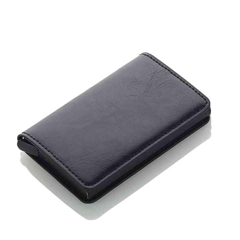 Men Credit Card Holders Business Id Card Case& Aluminium Bank Card Wallets
