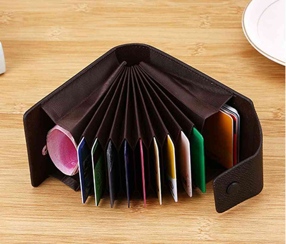 Credit Card Holder, Leather Purse& Cards Cardholder And Coins Case