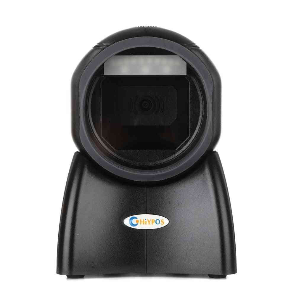 Omni Barcode Scanner, 1d/2d Bar Code Scanner Ticketing Qr Code Scanner, Desktop Data Matrix Reader (4010 Usb)