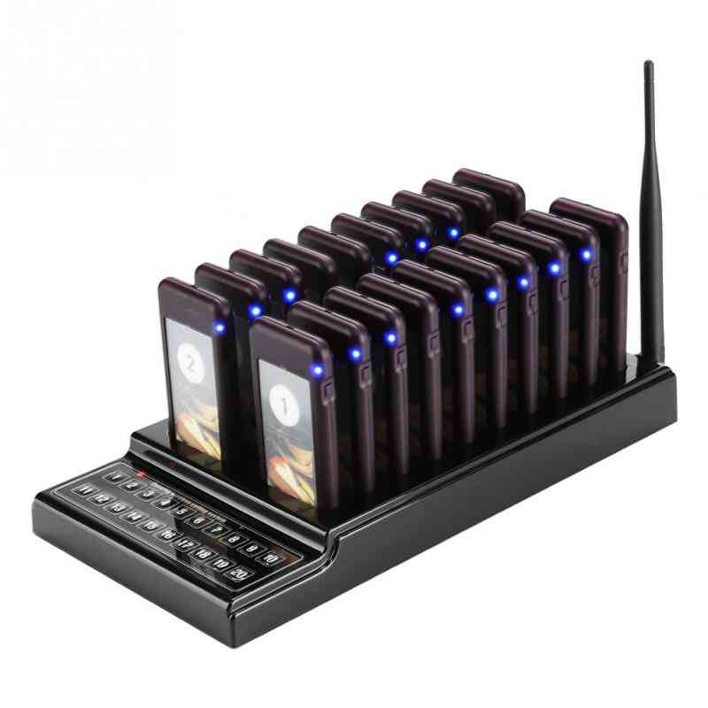 Restaurant Pager Channels Wireless Calling System Waiter, Customer For Restaurant