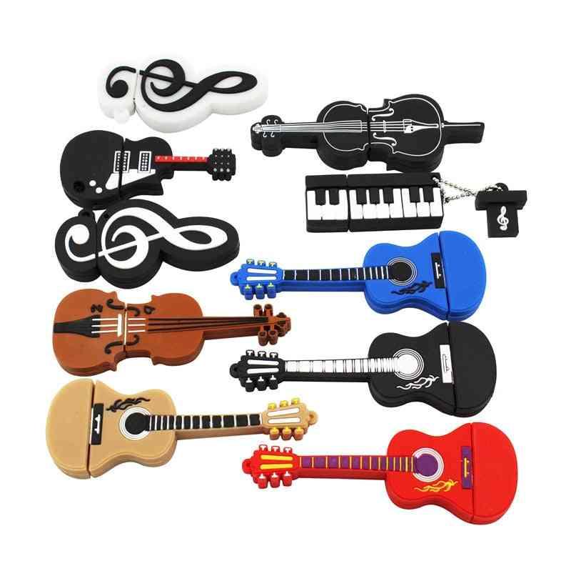 Cute Musical Instrument Guitar Violin Note Usb Flash Pendrive