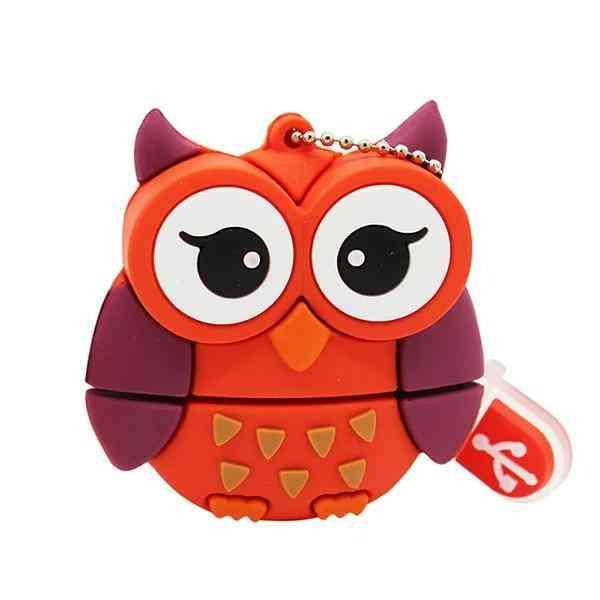 Cute Cartoon Penguin/owl/fox Style Flash Drive Usb/creative Pendrive
