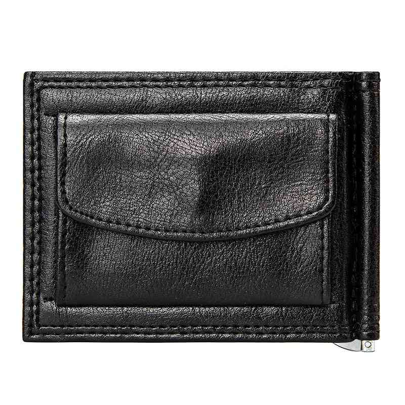 Men Short Wallet With Coin Pocket, Pu Leather Casual Cards Case, Wallets