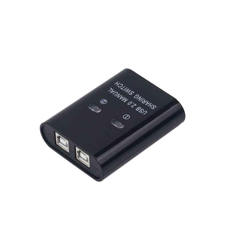 2 Port Usb Manual Switcher Hub, Computers Share One Printer Device