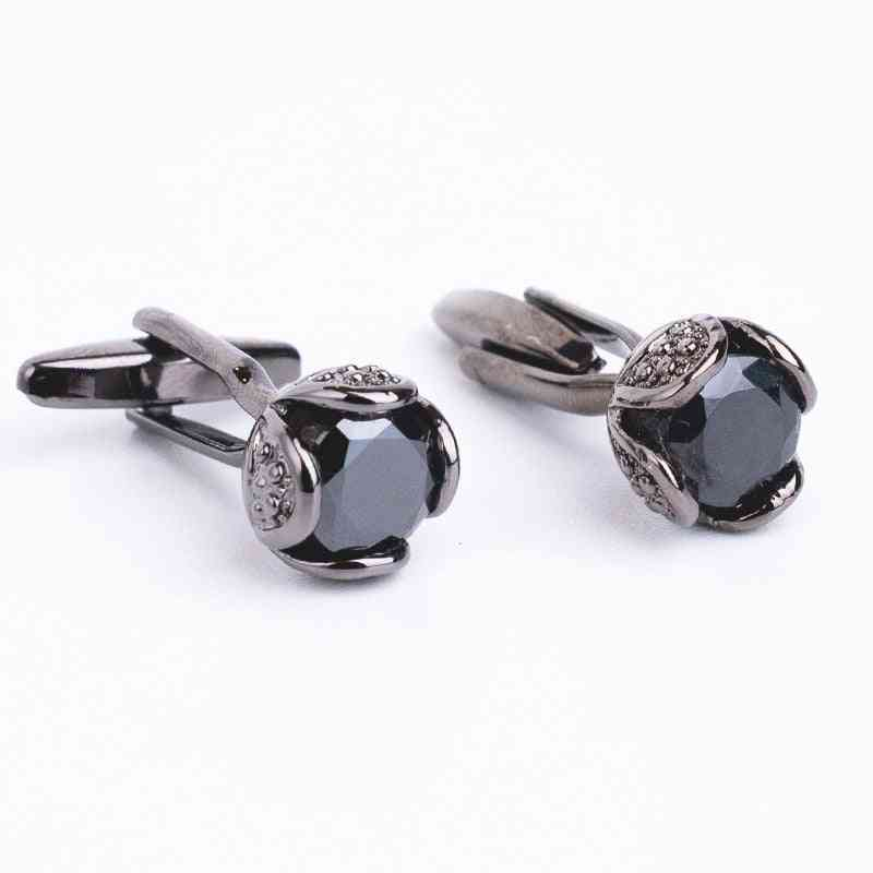 Novelty Luxury Rhinestone High Quality Crystal Cufflinks